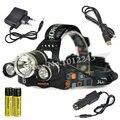 BORUIT RJ-3000 Фары 3T6 LED 6000Lm Фар Фонарик Lanterna Велосипед Передняя Фара Факел Лампы + Зарядное Устройство + 2x18650 4000 мАч Батареи