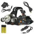 BORUIT RJ-3000 Headlamp 3T6 LED 6000Lm Headlight Flashlight Lanterna Bike Front Head Torch Lamp+Charger +2x18650 4000mAh Battery