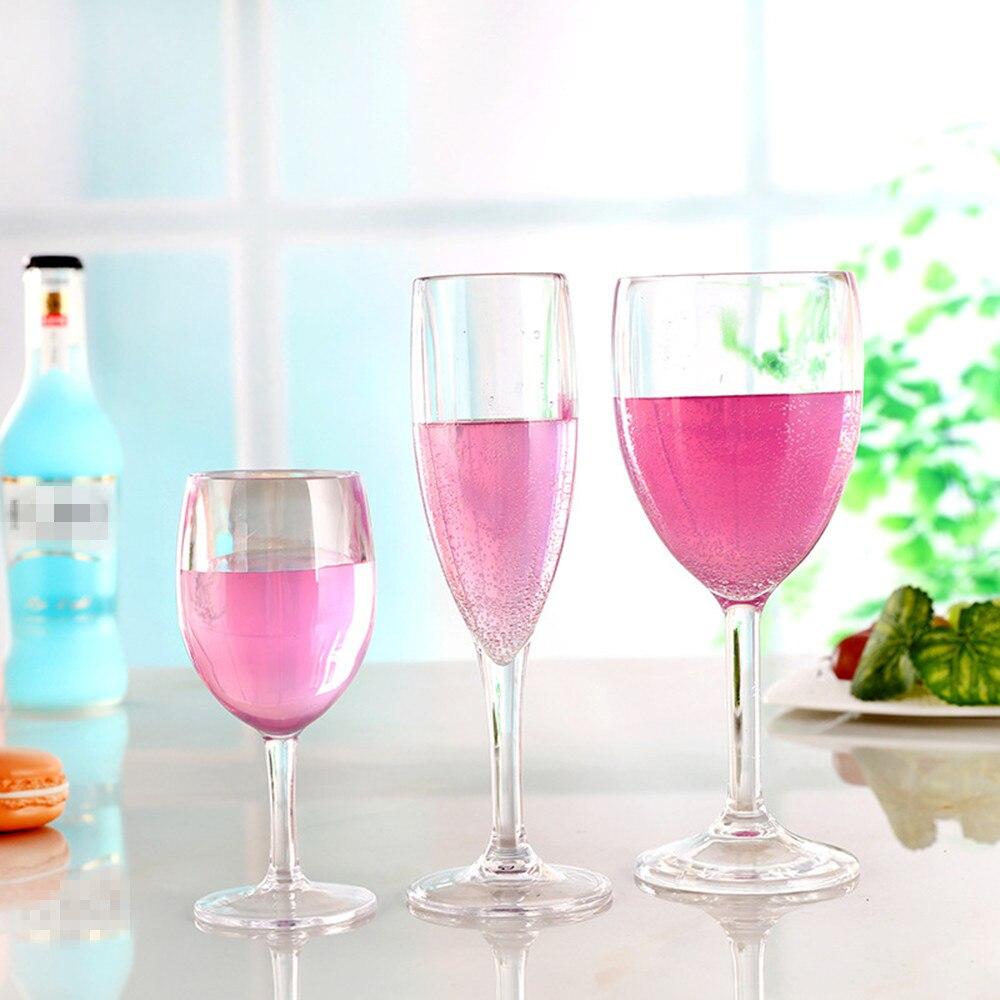 4pc/set Shatterproof Plastic Wine Glass Unbreakable PCTG Red Wine ...