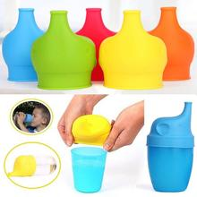 5 цветов, силиконовые многоразовые крышки для чашек с изображением слона, непроливающаяся Крышка для чашек, антипереливающиеся Детские питьевые инструменты для любых чашек