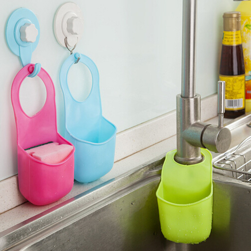 Kitchen Sink Accessories Basket aliexpress : buy folding hanging faucet soft silicone bathroom