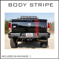 free shipping 1PC 240mm dirty tire mud road graphic Vinyl sticker for Dodge Ram hilux ranger 4x4 truck pickup decals badges deta