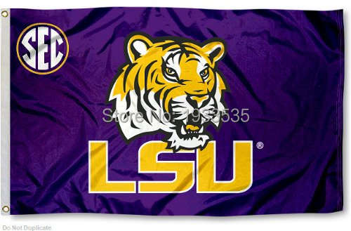 LSU Tigers SEC Fan Flag 3' x 5' Banner brass metal holes Flag-in Flags,  Banners & Accessories from Home & Garden on Aliexpress com | Alibaba Group
