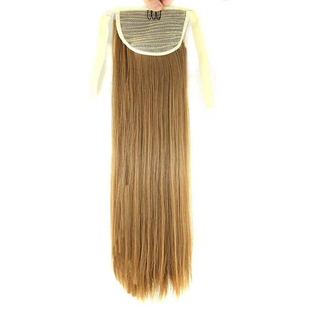 Soowee 10colors Synthetic Straight Hair Ponytails Horse Blonde Hair
