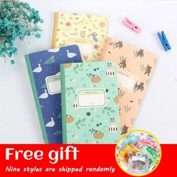 цена 48K Kraft Paper Vintage Kawaii Blank Pages Notebooks Notepad Daily Memo Pads Gift Bow Perfume Bottle Petal Stickers Color Random онлайн в 2017 году