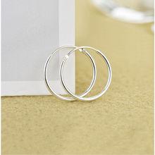 925 Sterling Silver Simple Ear Bone Hoop Earrings For Women Small Buckle Round Circle Hoops gift