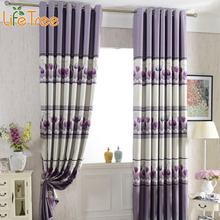 1 PC Tulip Printed Window Curtains For Living Room Pastoral 300cm Long Blackout Bedroom Custom Made