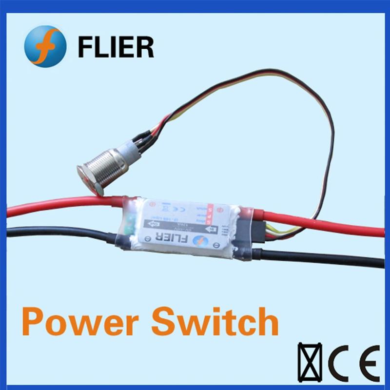 FATJAY FLIER interrupteur d'alimentation 2-14 S 120A 60 V tension maximale pour Skateboard VESC et longue carte ESC