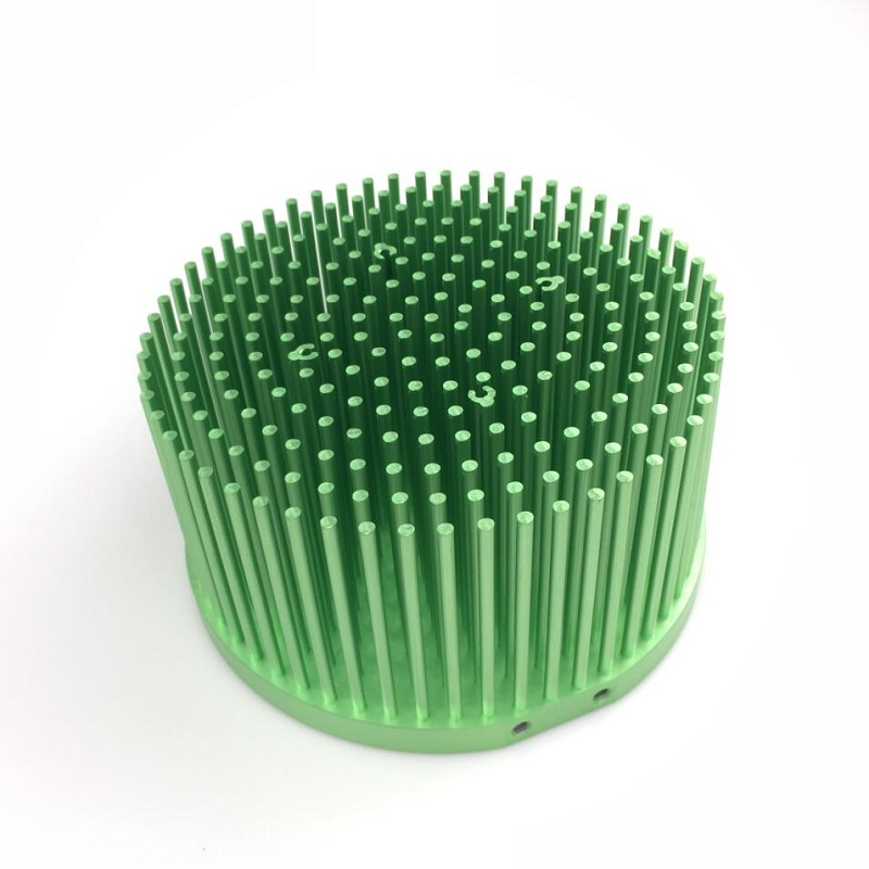 20pcs lot Green Color 50 65w Pre drilled pin fin led heat sink fit for cree