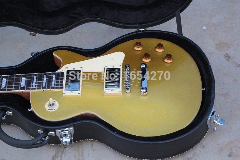 Free Shipping new arrived Hot Selling G Les Standard Gold Top VOS Goldtop LP Electric Guitar In Stock   151112 in stock chibson yellow burst les chinese paul lp style standard electric guitar with ebony fingerboard free shipping