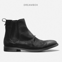 Men's Chelsea Boots Leather Retro Martin Boots Trends Кожаные сапоги Booties цена и фото