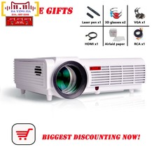5 Gifts Brightness 5500Lumens Long life LED Full HD LED home cinema projector 3D lcd Multimedia video game Projectors