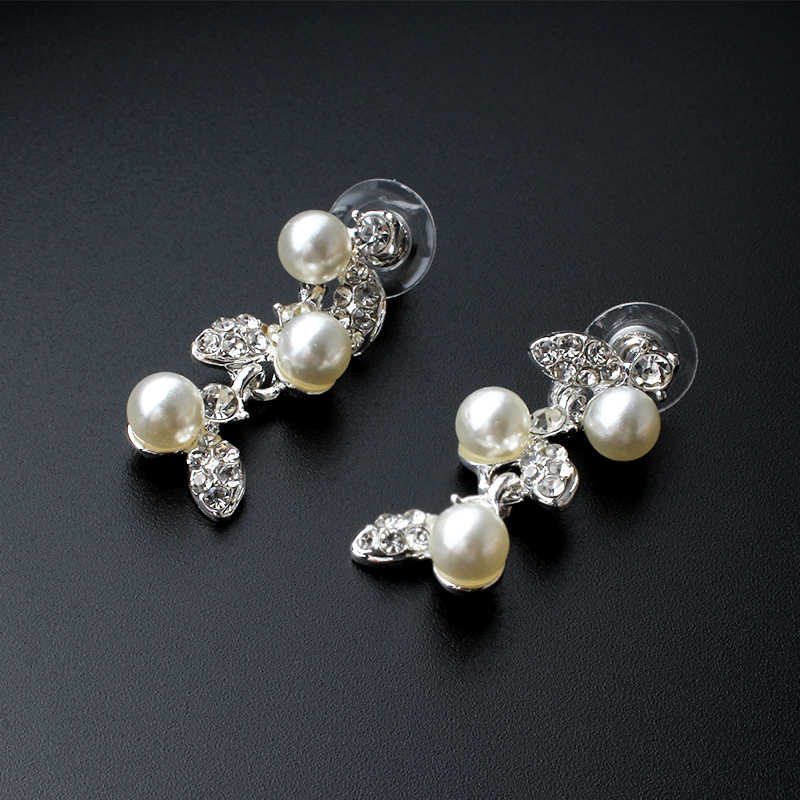 jiayijiaduo Silver color jewelry set for women wedding dress jewelry necklace earrings set gift accessories dropshipping