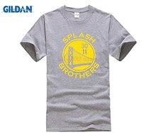 f3e268e07 designer t shirt Hot Sale Super Creative Splash Shirt Golden State Stephen  Curry Klay Thompson Men s