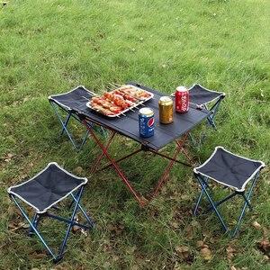 Image 5 - VILEAD Mesa de acampada portátil, mesa de aluminio plegable, resistente al agua, para exteriores, senderismo y playa, 57x42x38 cm, 6061