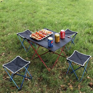 Image 5 - VILEAD Portable Camping Table 57*42*38 cm 6061 Aluminium Folding Durable Tourist BBQ Outdoor Hiking Beach Waterproof Table