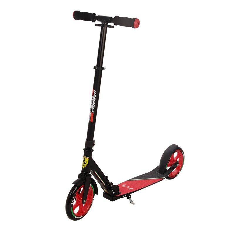 Ferrari Jeunes En Aluminium Alliage Permanent Scooter Pliant Hauteur 120 cm Pied Scooters kick scooter adulte