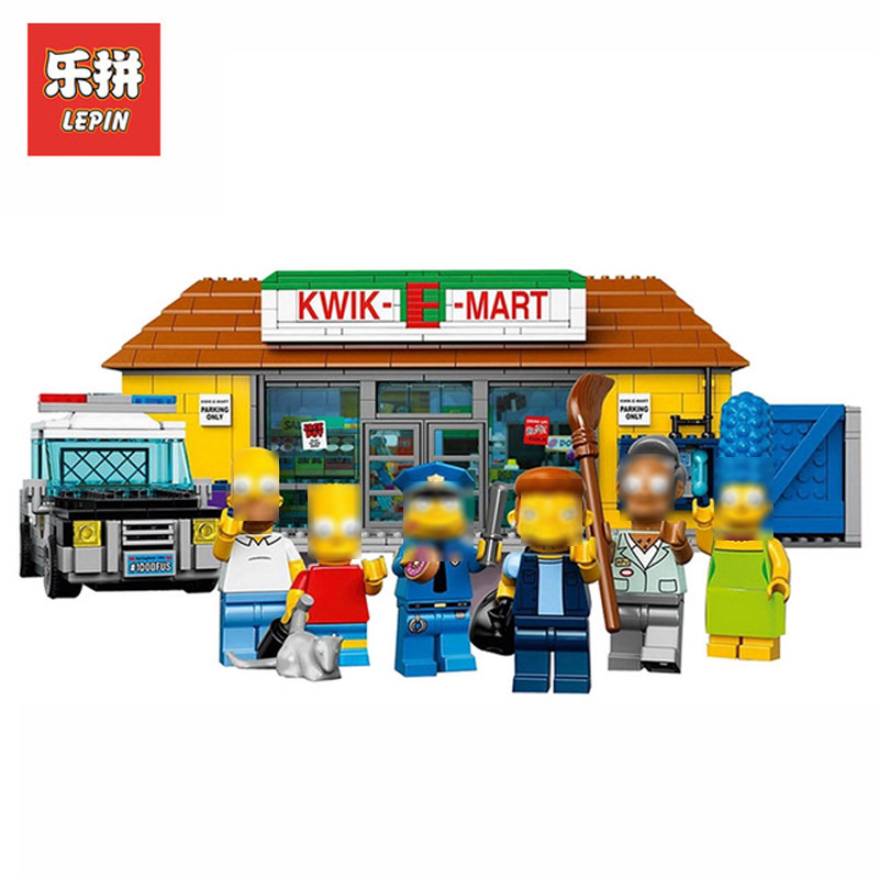 In Stock DHL Lepin Sets 16004 2232Pcs Simpsons Figures The Kwik-E-Mart Model Building Kits Blocks Bricks Educational Toys 71016
