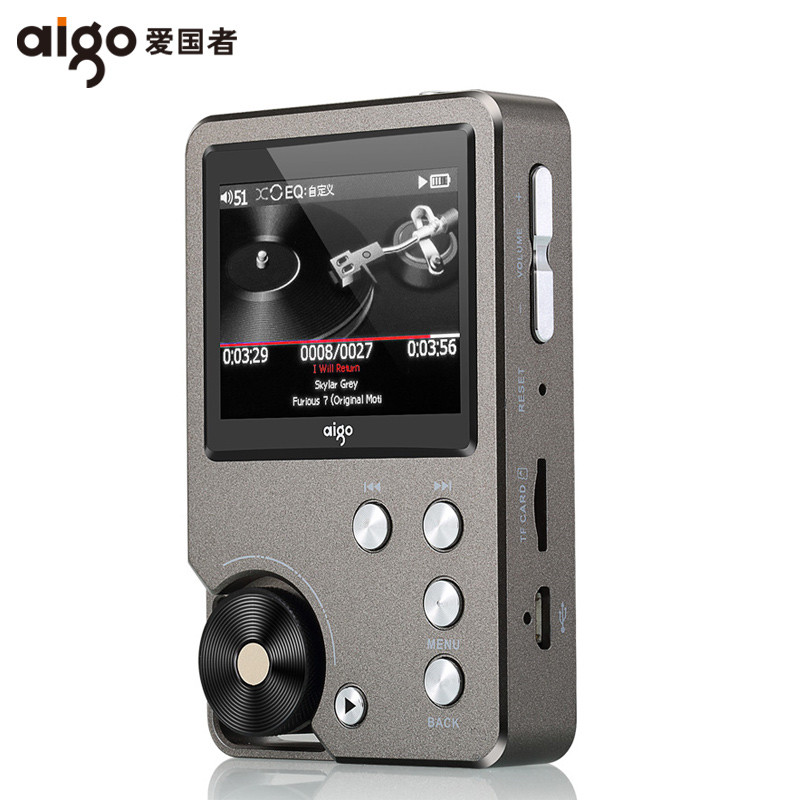 AIGO MP3-105 HIFI Lecteur Loseless Mini Portable MP3 avec TFT Écran WM8965 Mini Salut-res Flac DSD Sport EQ réglable USB