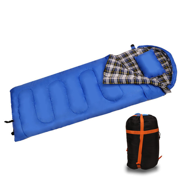 Us 65 99 20 Off Ultralight Envelopes Style Outdoor Camping Sleeping Bags 210cm 75cm One People Cotton Light Bag For Winter In