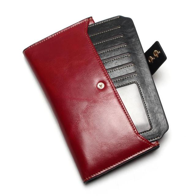 Women Wallets Genuine Leather High Quality Long Design Clutch Cowhide Wallet High Quality Fashion Female Purse 1