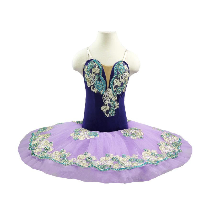 Lilac Professional Tutus Ballet Costume Platter Stage purple Girls Classical Performance Ballerina Nucracker Tutu Kids