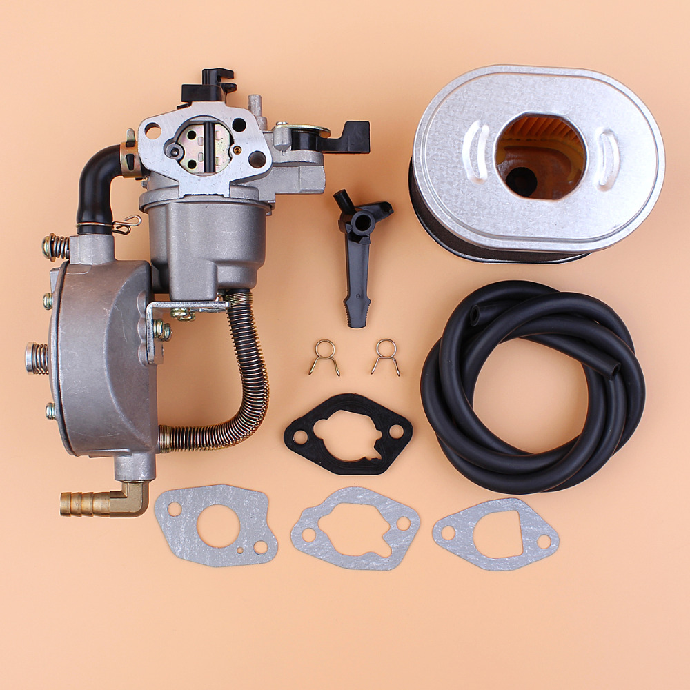 Dual Fuel Carburetor Air Filter Conversion Kit For HONDA GX160 GX200 168F  2KW 2 5KW Gasoline Engine Water Pump LPG CNG GAS