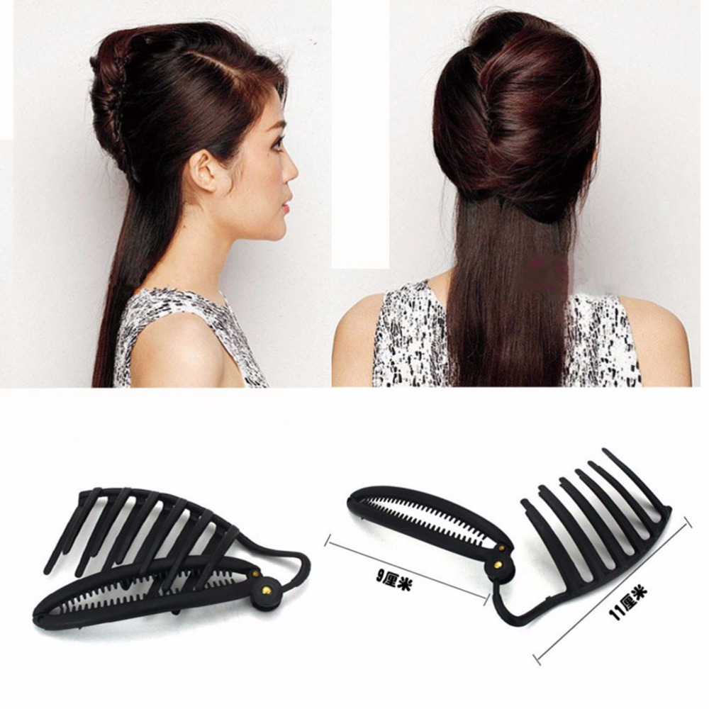 2017 New French Night Party Roll Collar Quick And Easy Hairstyle