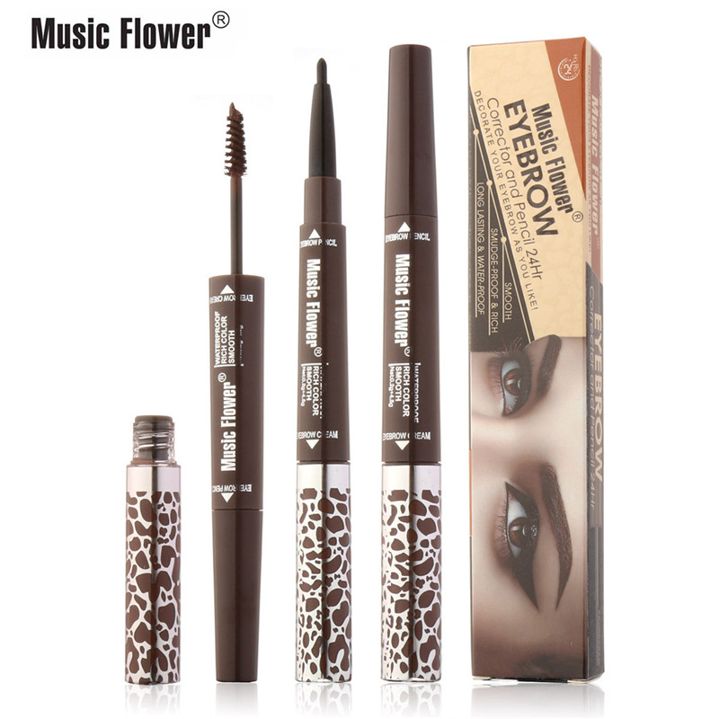 Music Flower Brand 4 Colours Eyebrow Corrector And Pencil Women