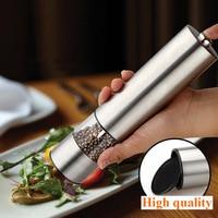 Hot Sales Stainless Steel Electric Grinder Kitchen Grinding Pepper Mill Spice Grinder Salt And Pepper Mills