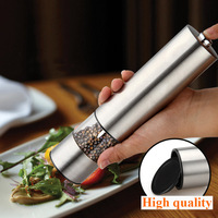 Hot Sales Stainless Steel Electric Grinder Kitchen Grinding Pepper Mill Spice Grinder Salt And Pepper Mills