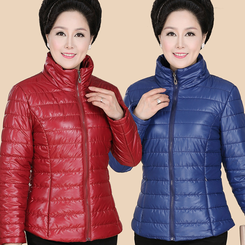 The new feather cotton clothing thin cotton clothing autumn and winter clothing in the elderly women's short jacket frico p21