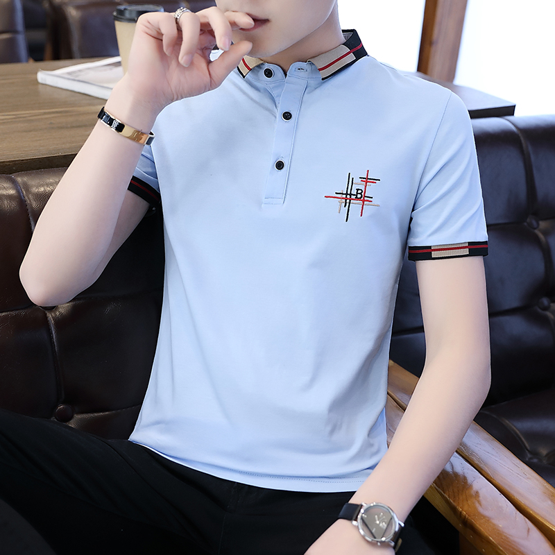 Casual Male   Polo   Shirt Embroidery Spliced Men   Polo   Shirt Summer M-3XL   Polo   Shirts Man Short Sleeve