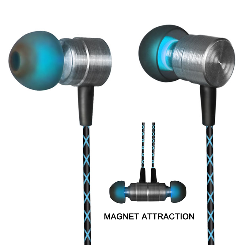 2018 New X41M Magnetic Earphone HIFI Fever In-ear Earphone Transient Headset Heavy Low Quality Earbuds Virulent Vocals For phone