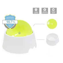 Dog Water Bowl, No-Spill Pet Floating Drinking Bowl Slow Feeder Eco-friendly Plastic Not Wet Mouth for Cat