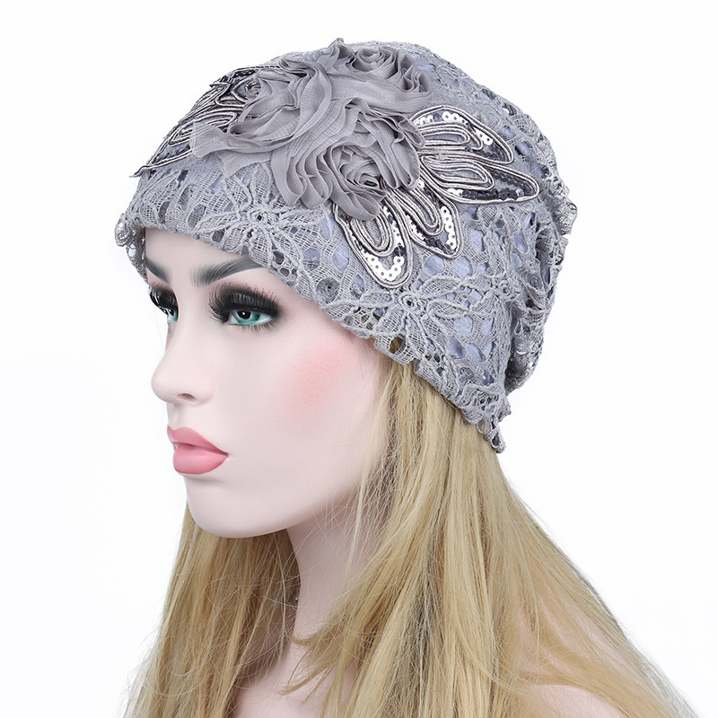 New Fashion Hats Autumn And Winter Women Hollow Out Lace Cap Double-deck Flower Keep Warm beanie Free shipping women s hats and fascinators vintage sinamay sagittate feather fascinator with headband tocados sombreros bodas free shipping