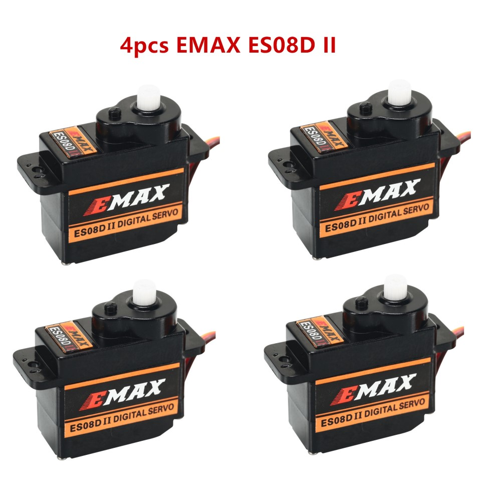 4 pcs/lot EMAX ES08DII  9g Plastic Digital Micro Servo for RC Helicopter Airplane RC Quadcopter Robot|Parts & Accessories| |  - title=