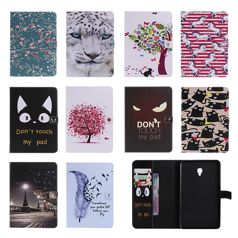 Fashion Printings Case for Samsung Galaxy Tab A 8.0 SM-T380 T385 2017 Magnetic PU Leather Smart Cover 8.0 Tablet Stand Case