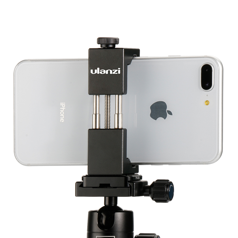 Ulanzi IRON MAN Smartphone Tripod Mount Universale Del Telefono Del Metallo Alluminio Treppiede Adattatore Del Supporto Del Basamento per il iphone X 8 7 plus samsung