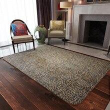 Yazi estampado de leopardo de moda grande poliéster suave de la felpa del cabrito del bebé juego mat area rug carpet casa piso sala de estar decoración