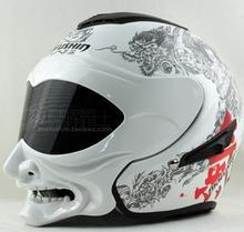 Motorcycle helmet half face helmet double lens uncovering personality