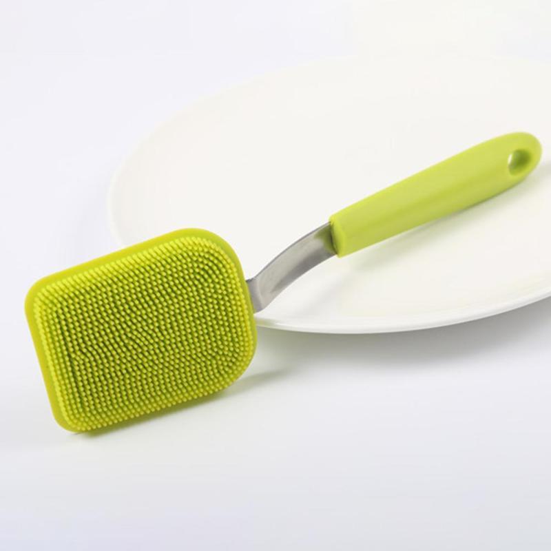 Simple Largo Mango Esponja cepillo de Botella Cepillo de Taza de Lavado Cepillos