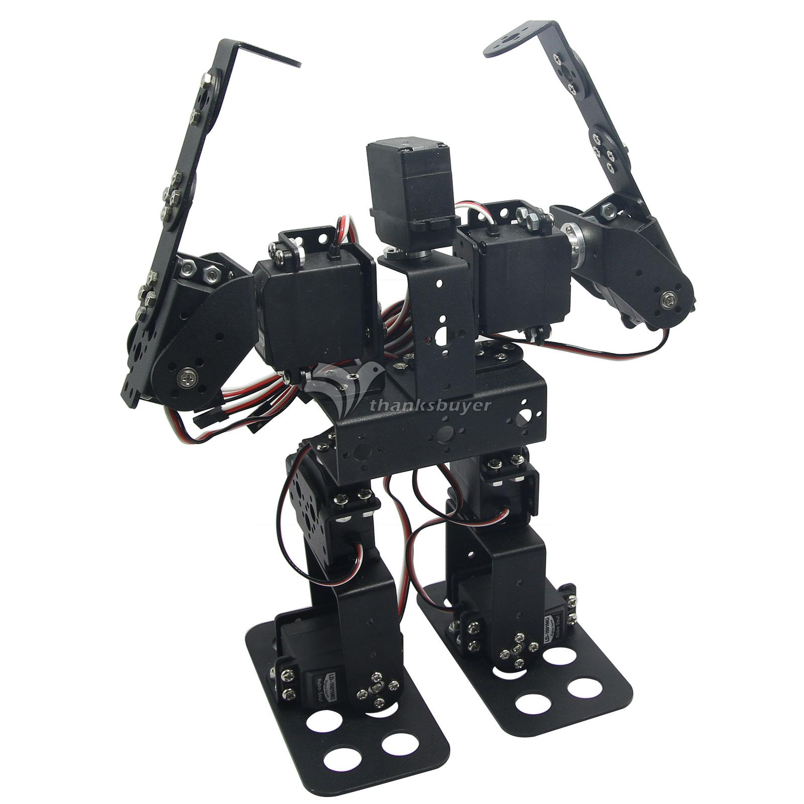 Assembled 9DOF Humanoid Biped Robotic Educational Robot with Bracket LD-1501MG Servo for Racing new 17 degrees of freedom humanoid biped robot teaching and research biped robot platform model no electronic control system