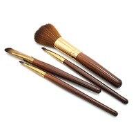Make Up Brush Set For Beauty Women Professional 4 Pcs Makeup Brush Set Comestic Toiletry Kit 0067
