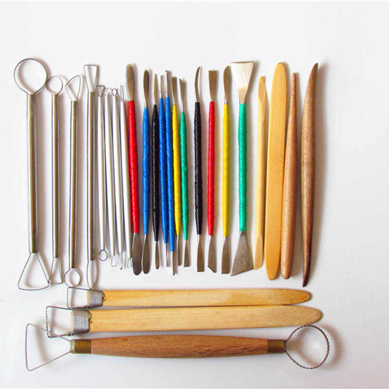 Professional Clay Sculpting Sculpt Smoothing Wax Carving Pottery Ceramic Tools Polymer Shaper Modeling Carved Knife 22pcs 26pcs