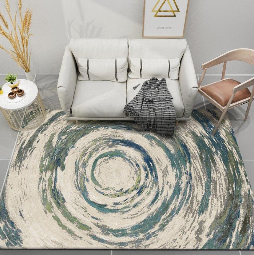 Nordique INS haute qualité abstraite sans fin Art tapis pour salon chambre tapis de sol anti-dérapant mode cuisine tapis tapis