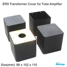 1 Piece Transformer Cover ER9 88X102X110 Stretch Output Transformers Covers for Tube Amp Iron Black HIFI