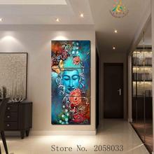 Buddha Flower Canvas