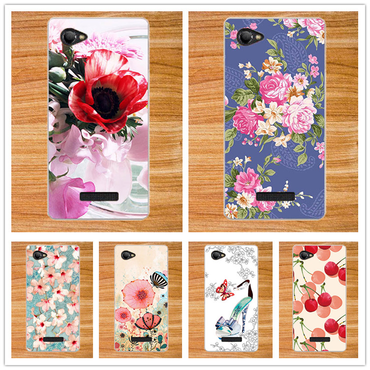 Saprkle 10 Patterns Case For Fly FS505 Nimbus 7 Protector Cover Brilliant Painting 3D diy Design For Fly FS505 case cover Shell