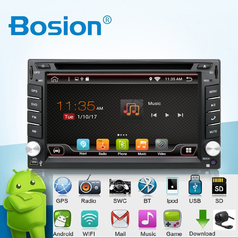 universal 2 din android 6 0 car dvd player gps wifi. Black Bedroom Furniture Sets. Home Design Ideas
